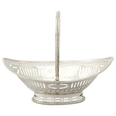 Antique George III Sterling Silver Sweetmeat Basket