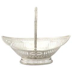 Antique George III Sterling Silver Sweetmeat Basket