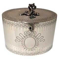 Antique George III Sterling Silver Tea Caddy London 1778 John Scofield