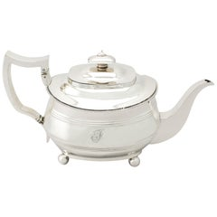 Antique George III Sterling Silver Teapot, 1813