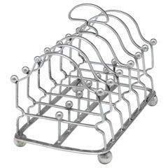 Antique George III Sterling Silver Toast Rack from 1809 by William Tucker & Co.