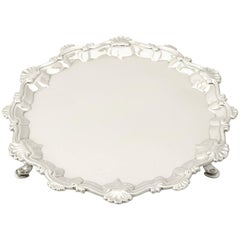 Antique George III Sterling Silver Waiter