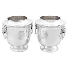 Antique George III Sterling Silver Wine Coolers