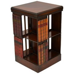 Antique George III Style Mahogany Revolving Bookcase Stand