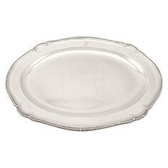 Antique George III York Sterling Silver Meat Platter