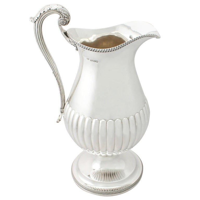 Antique George IV 1815 Sterling Silver Wine Ewer or Flagon For Sale