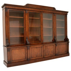 Antique George IV Mahogany Dwarf Bookcase