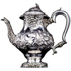 Antique George iv Period Sterling Silver Tea Pot
