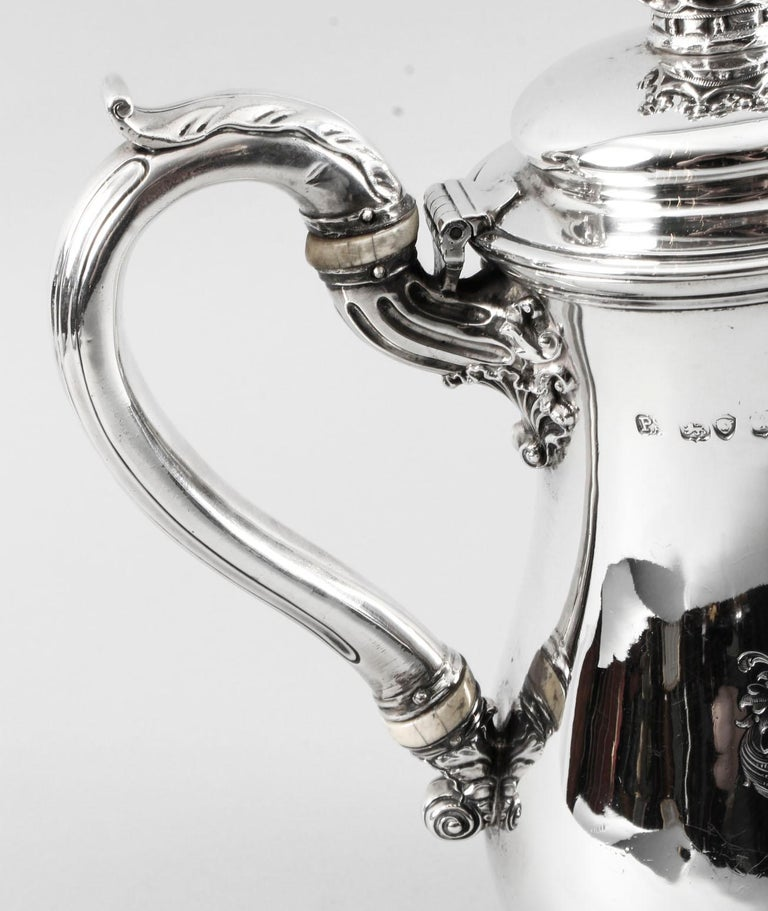 Antique George IV Silver Coffee Pot by Paul Storr London, 1826, 19th Century 5