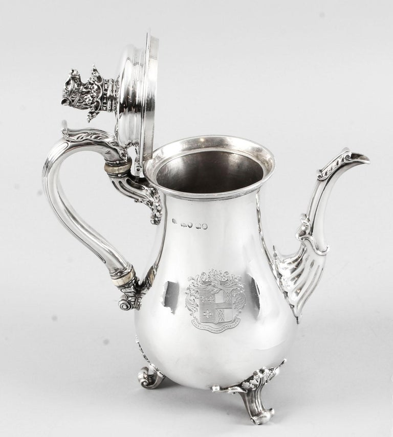 Antique George IV Silver Coffee Pot by Paul Storr London, 1826, 19th Century 1