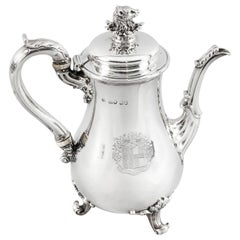 Antique George IV Silver Coffee Pot by Paul Storr London, 1826, 19th Century