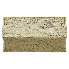 Antique George IV Sterling Silver Gilt Snuff Box