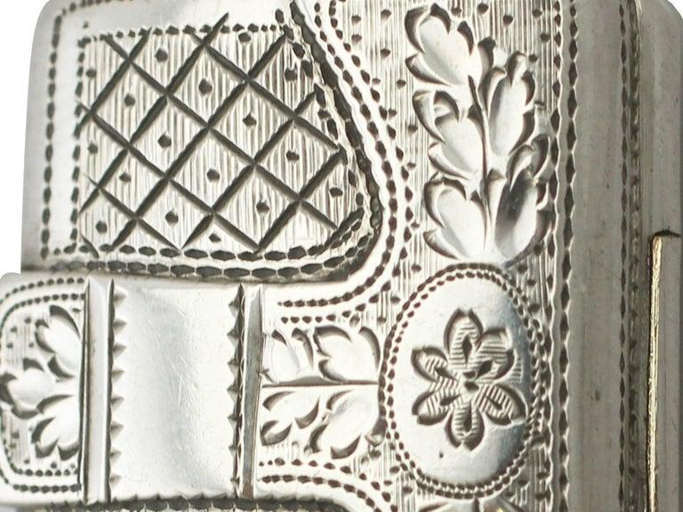 Antique George IV Sterling Silver 'Purse' Vinaigrette For Sale 5