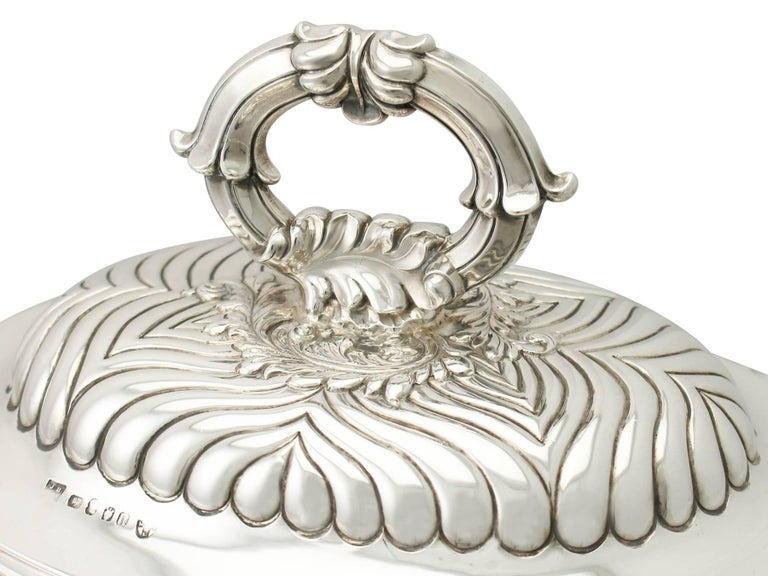 Early 19th Century Antique George IV Sterling Silver Soup Tureen or Centerpiece For Sale