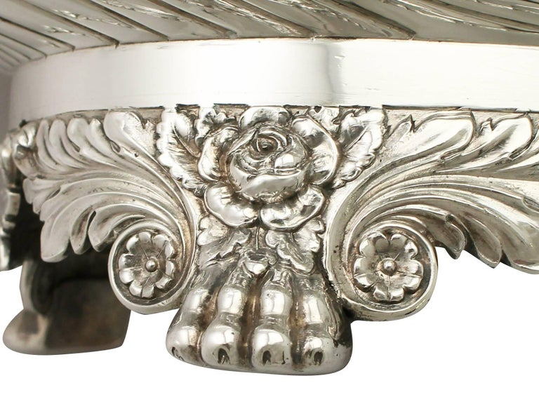 Antique George IV Sterling Silver Soup Tureen or Centerpiece For Sale 4