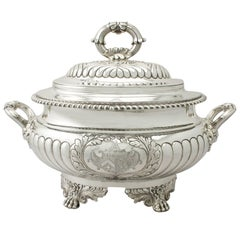Antique George IV Sterling Silver Soup Tureen/Centerpiece