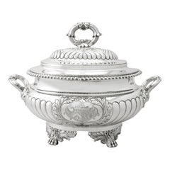 Antique George IV Sterling Silver Soup Tureen or Centerpiece
