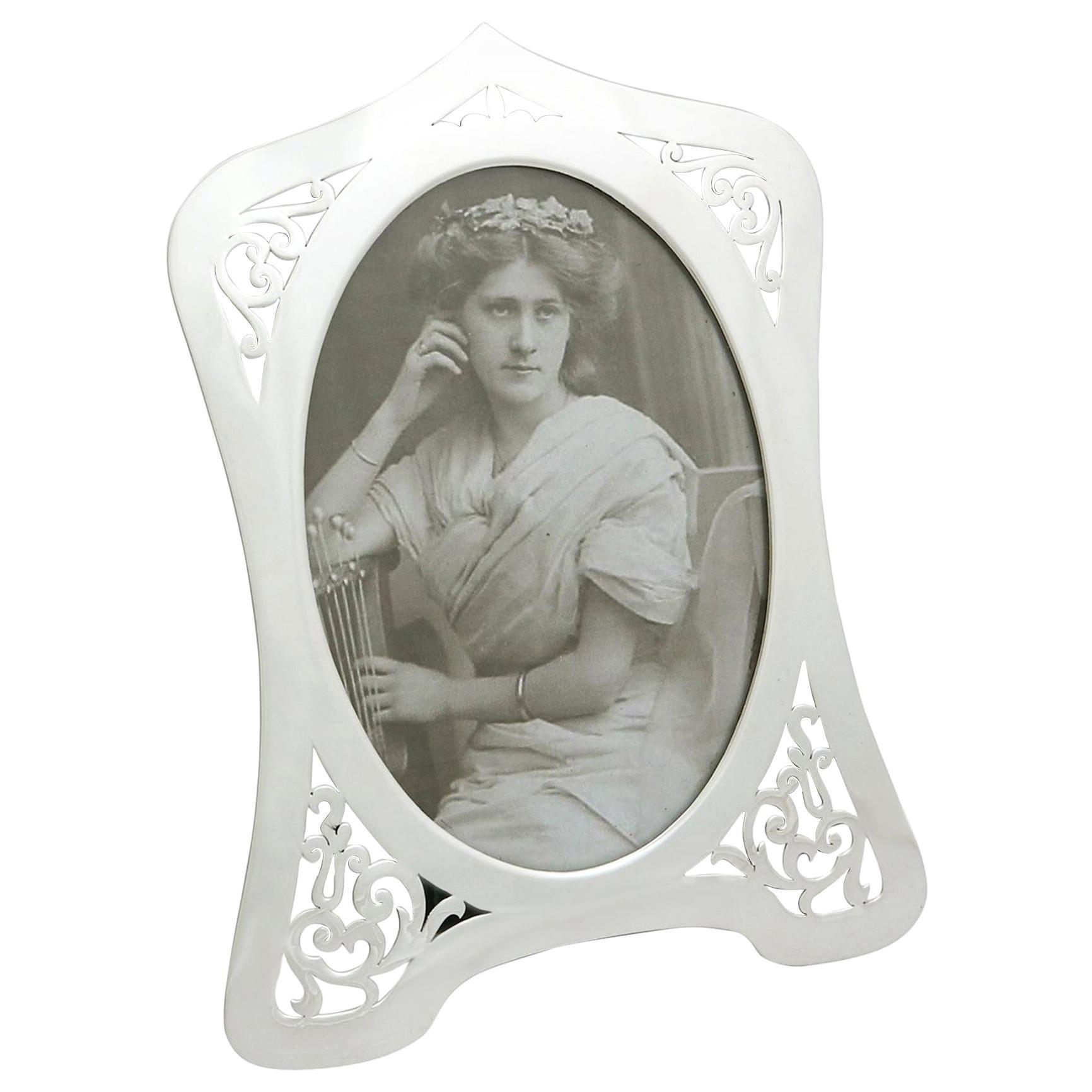 Antique George V 1910 Sterling Silver Photograph Frame by Lawrence Emanuel