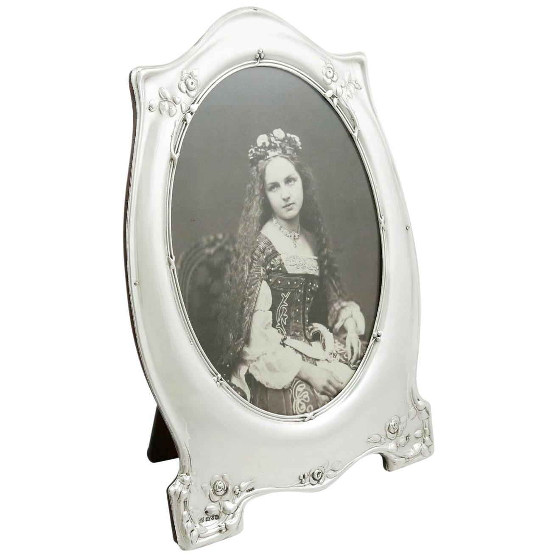 Antique George V 1910 Sterling Silver Photograph Frame