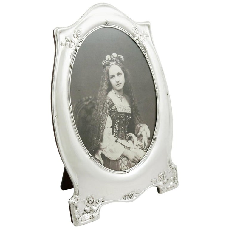 Antique George V 1910 Sterling Silver Photograph Frame For Sale