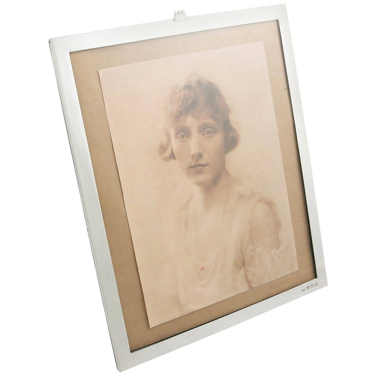 Antique George V 1911 Sterling Silver Photograph Frame