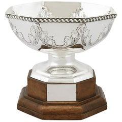 Antique George V 1911 Sterling Silver Presentation Bowl