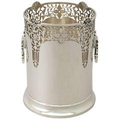 Antique George V Art Deco Sterling Silver Bottle Coaster