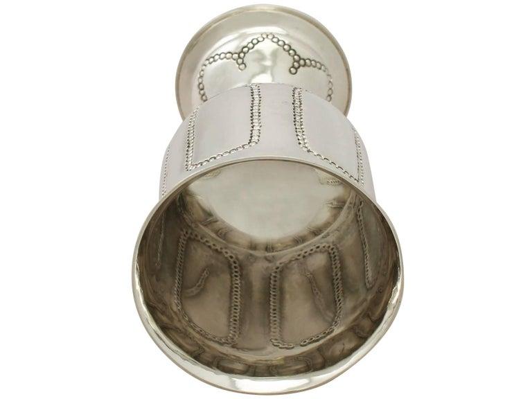 Antique George V Arts & Crafts Style Sterling Silver Goblet For Sale 2