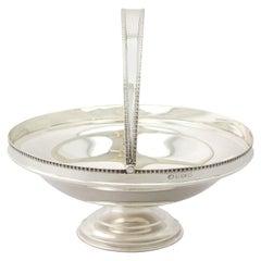 Antique George V English Sterling Silver Cake / Fruit Basket