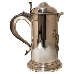 Antique George V Large Sterling Silver Flagon London 1922 J S Harman