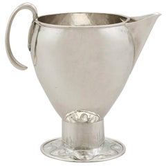 Antique George V Sterling Silver Cream Jug by A E Jones