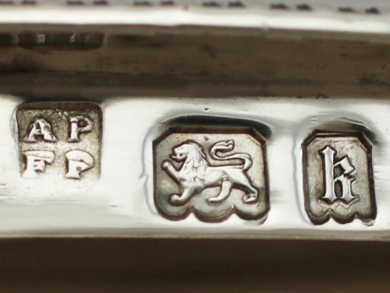 1925 Antique Sterling Silver Desk Standish For Sale 5