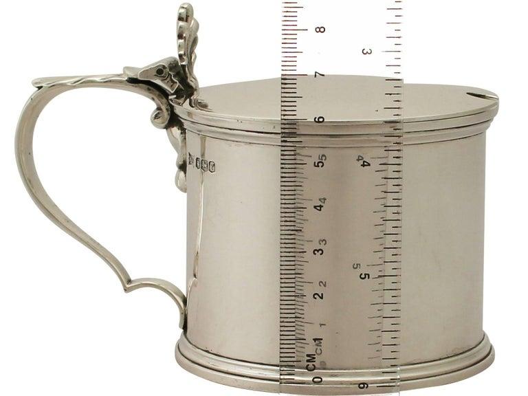 Antique George V Sterling Silver Mustard Pot For Sale 4
