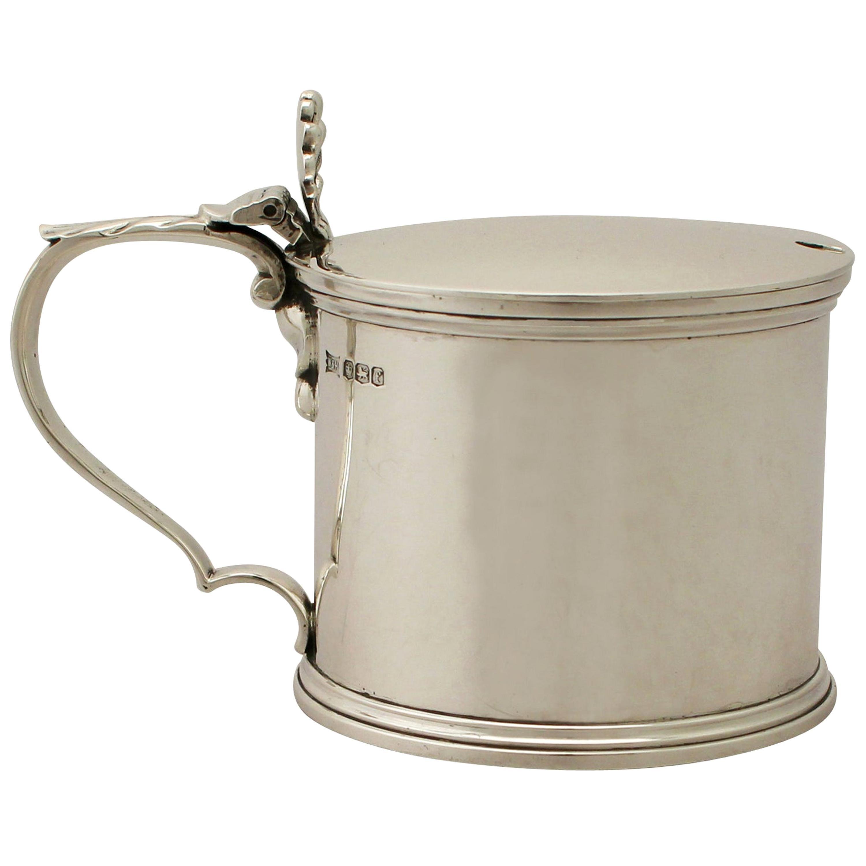 Antique George V Sterling Silver Mustard Pot