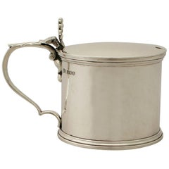 Antique George V Sterling Silver Mustard Pot