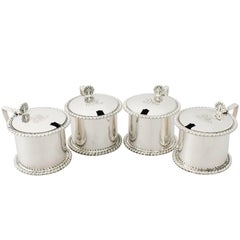 Antique George V Sterling Silver Mustard Pots