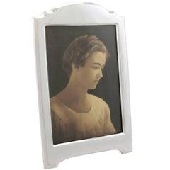 Antique George V Sterling Silver Photograph Frame, 1916