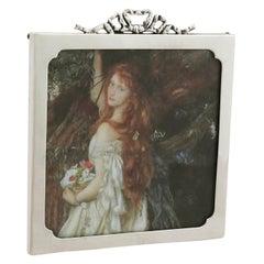 Antique George V Sterling Silver Photograph Frame, 1917