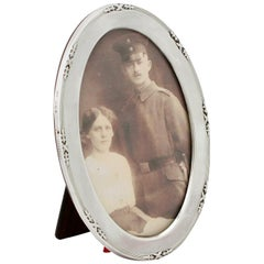 Antique George V Sterling Silver Photograph Frame by Charles Perry & Co