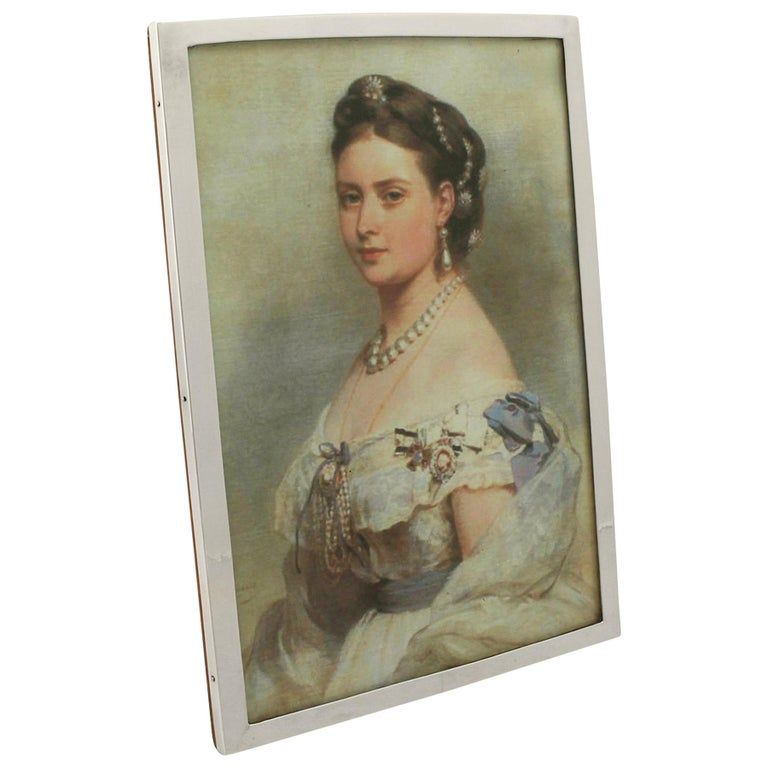 Antique George V Sterling Silver Photograph Frame by Liberty & Co Ltd, 1917 For Sale