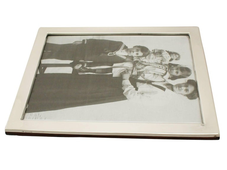 Antique George V Sterling Silver Photograph Frame For Sale 2