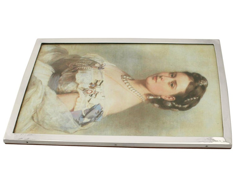 Antique George V Sterling Silver Photograph Frame by Liberty & Co Ltd, 1917 For Sale 1
