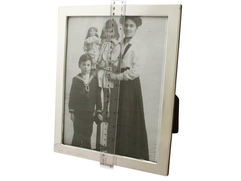 Antique George V Sterling Silver Photograph Frame For Sale 4
