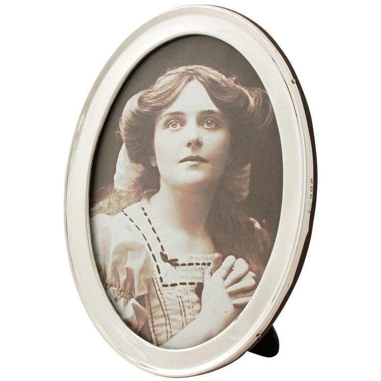 Antique George V Sterling Silver Photograph Frame For Sale