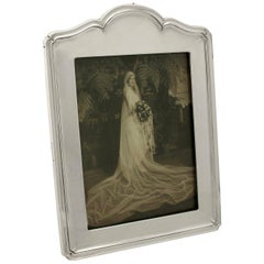 Antique George V Sterling Silver Photograph Frame
