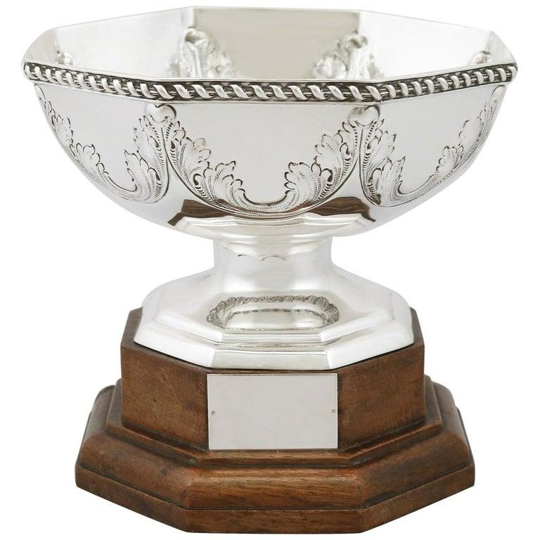 Antique George V Sterling Silver Presentation Bowl, 1911 For Sale