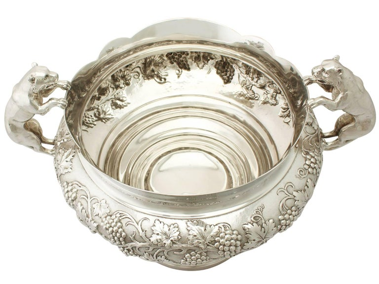 Antique George V Sterling Silver Presentation Bowl by Frank Hyams Ltd In Excellent Condition For Sale In Jesmond, Newcastle Upon Tyne