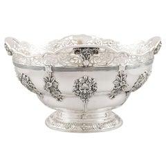 Antique George V Sterling Silver Presentation Bowl