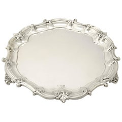 Antique George V Sterling Silver Salver by Mappin & Webb, 1912