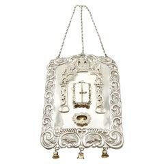 Antique George V Sterling Silver Torah Breastplate